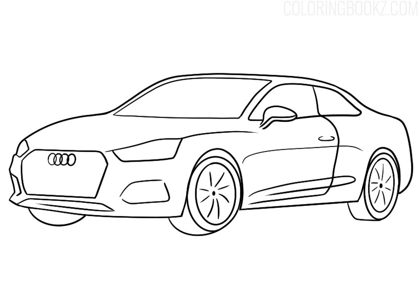 Audi A5 Coupe Coloring Page