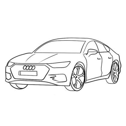 Audi A7 Sportback Coloring Book