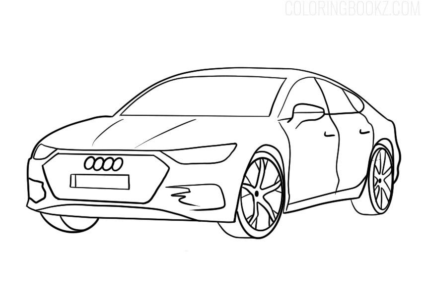 Audi A7 Sportback Coloring Page