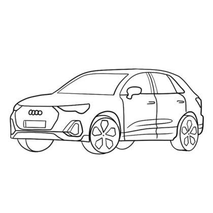 Audi Q3 Coloring Book