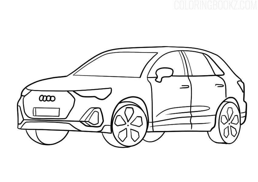 Audi Q3 Coloring Page
