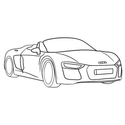 Audi R8 Spyder Coloring Book