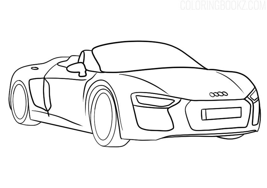 Audi R8 Spyder Coloring Page