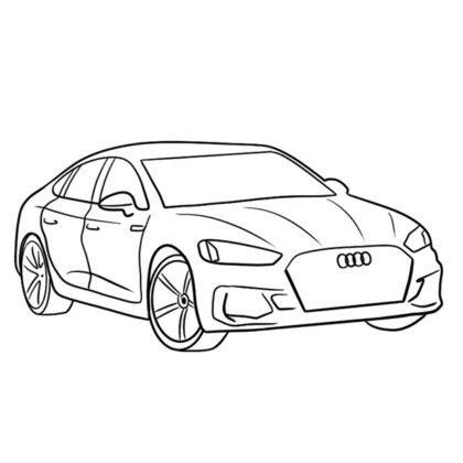 Audi RS5 Coloring Book
