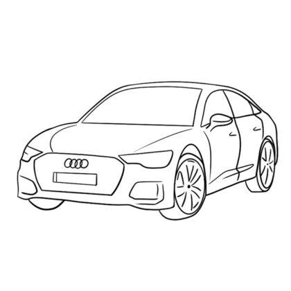 Audi S6 Coloring Book