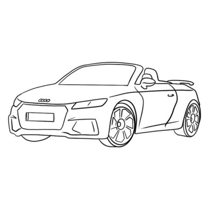 Audi TT RS Coloring Book