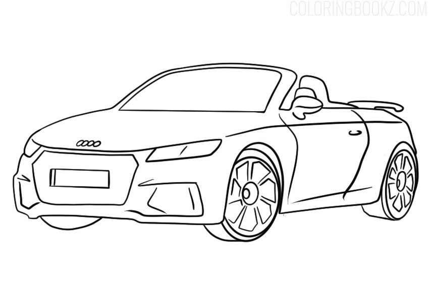Audi TT RS Coloring Page