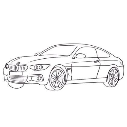 BMW 4 Coloring Book