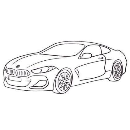BMW 8 Coloring Book