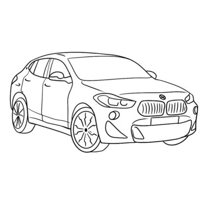 BMW X2 Coloring Book