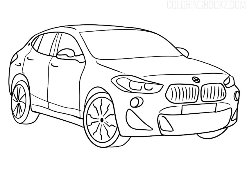 BMW X2 Coloring Page