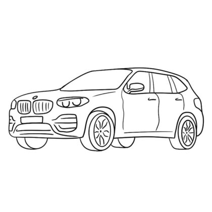 BMW X3 Coloring Book