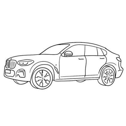 BMW X4 Coloring Book