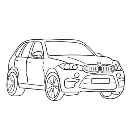 BMW X5M Coloring Book