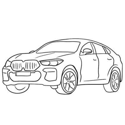 BMW X6M Coloring Book