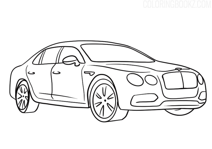 Bentley Flying Spur Coloring Page