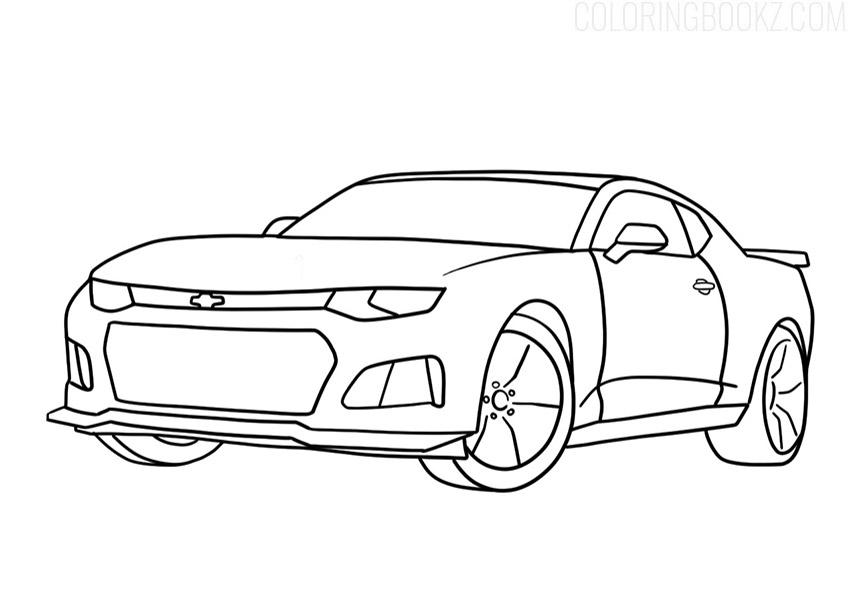 Chevrolet Camaro Coloring Page PDF