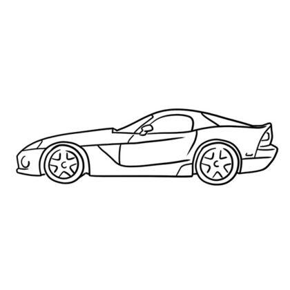 Dodge Viper PDF Coloring Book