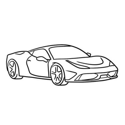 Ferrari 458 Speciale Coloring Book