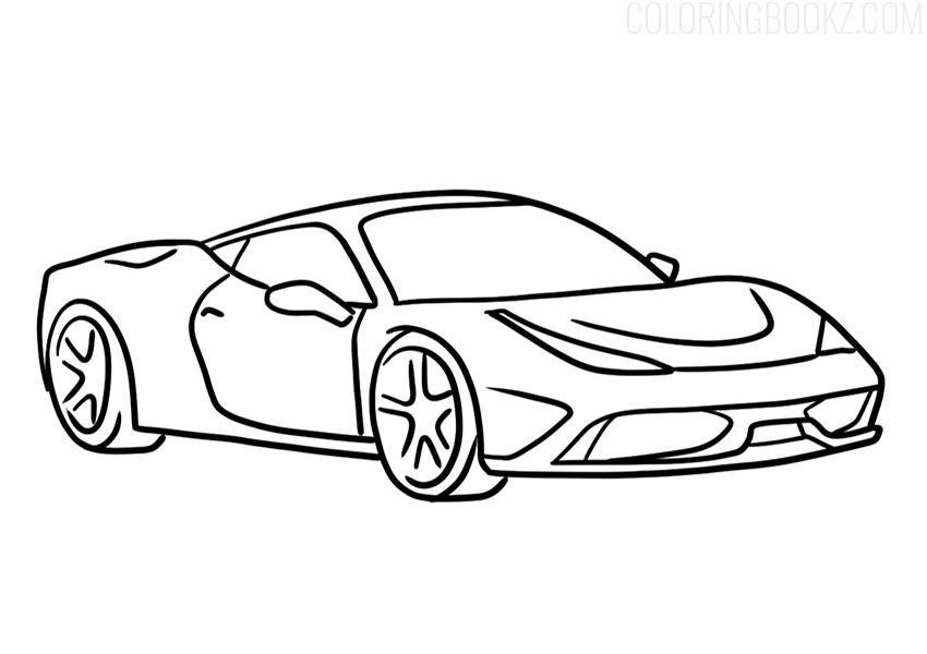 Ferrari 458 Speciale Coloring Page