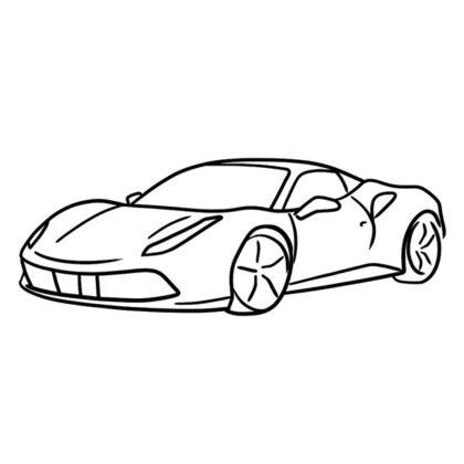 Ferrari 488 GTB Coloring Book