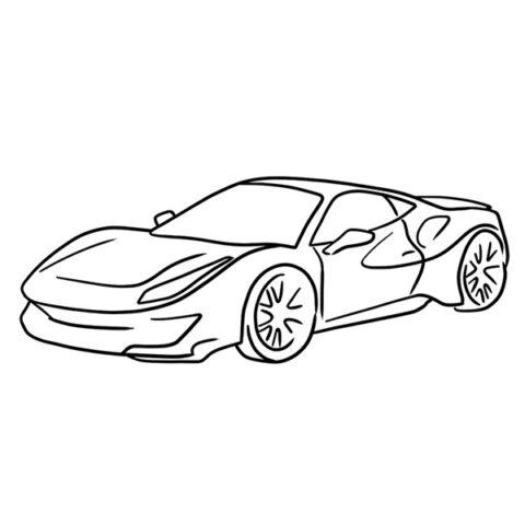 Ferrari 488 Pista Coloring Book