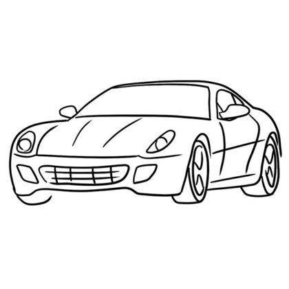 Ferrari 599 GTB Fiorano Coloring Book