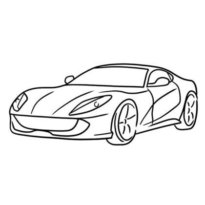 Ferrari 812 SuperFast Coloring Book