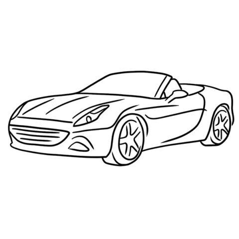Ferrari Cabriolet Coloring Book