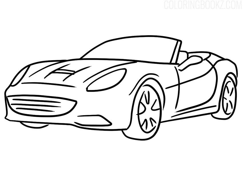 Ferrari California Coloring Page
