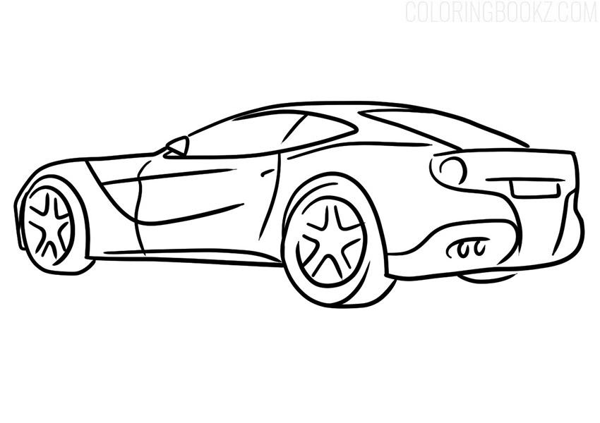 Ferrari F12berlinetta Coloring Page