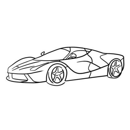 Ferrari LaFerrari Coloring Book