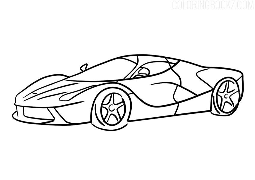 Ferrari LaFerrari Coloring Page