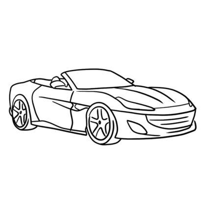 Ferrari Portofino Coloring Book