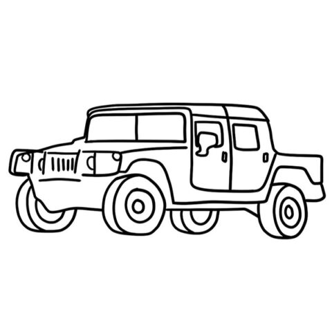 Hummer H1 Coloring Book