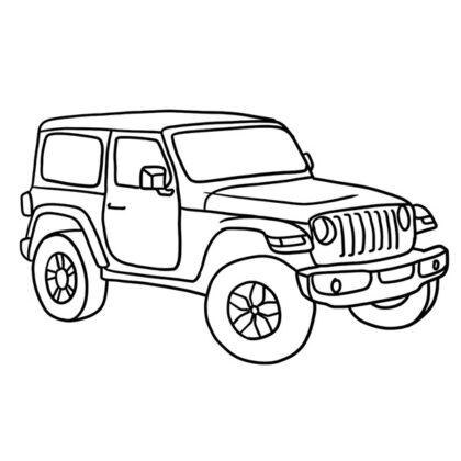 Jeep Wrangler Coloring Book