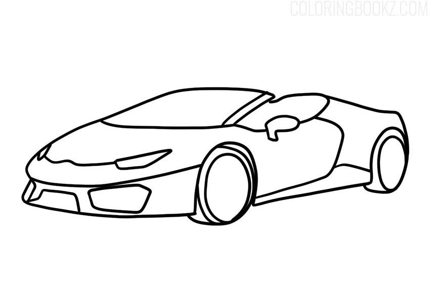 Lamborghini Aventador Roadster Coloring Page