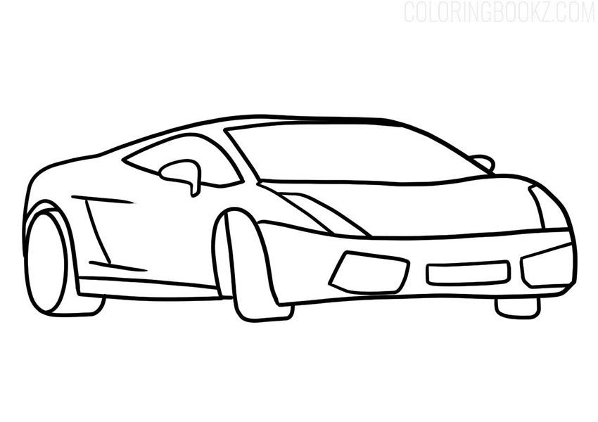 Lamborghini Gallardo Coloring Page