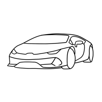 Lamborghini Huracan EVO Coloring Book