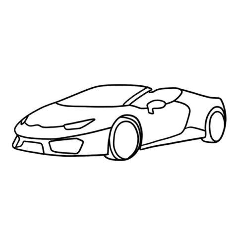 Lamborghini Huracan Spyder Coloring Book