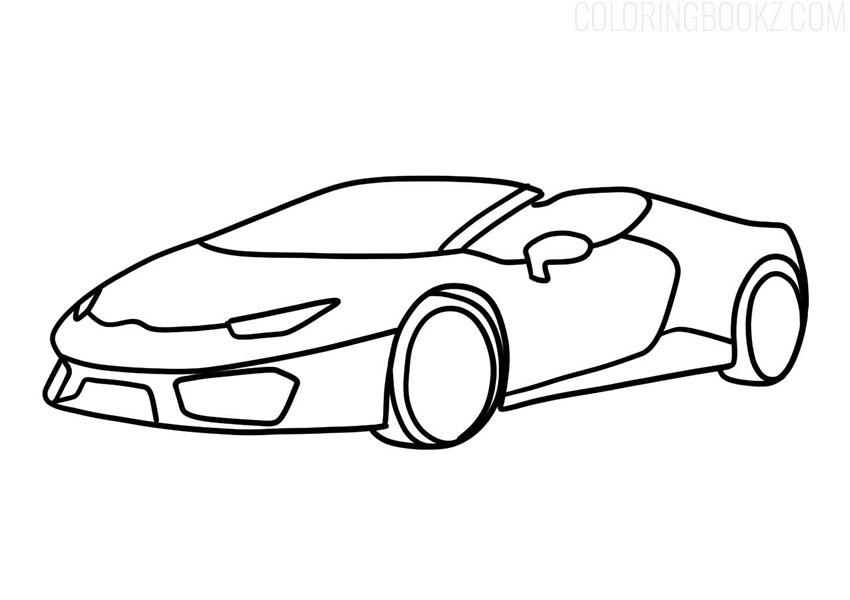 Lamborghini Huracan Spyder Coloring Page