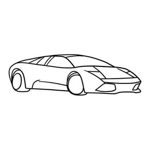 Lamborghini Murcielago Coloring Book