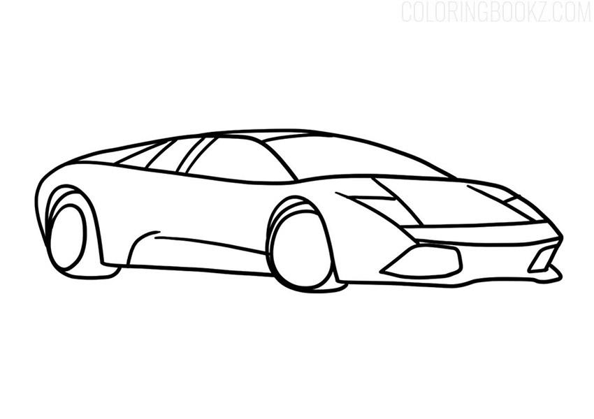Lamborghini Murcielago Coloring Page