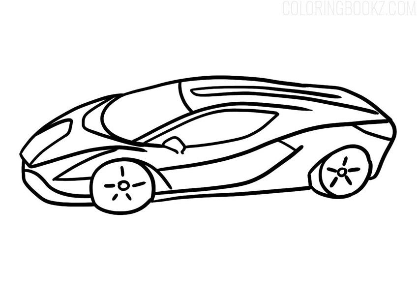 Lamborghini Sian Coloring Page
