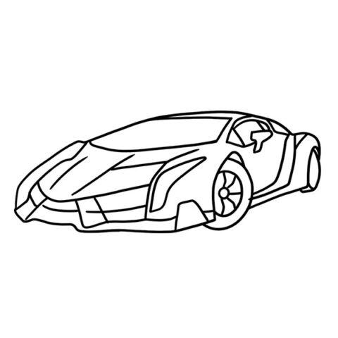 Lamborghini Veneno Coloring Book