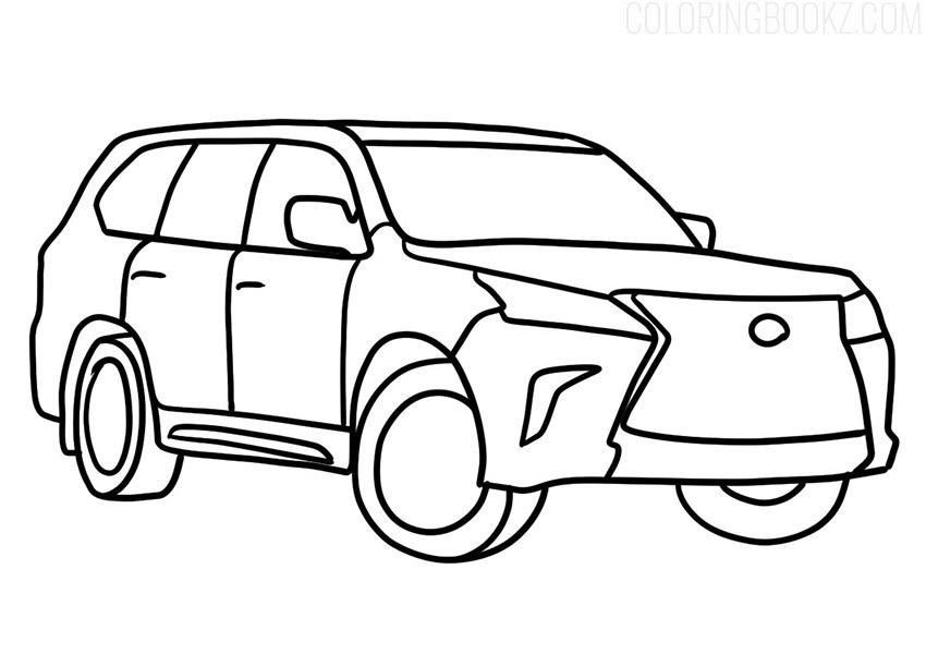 Lexus LX Coloring Page